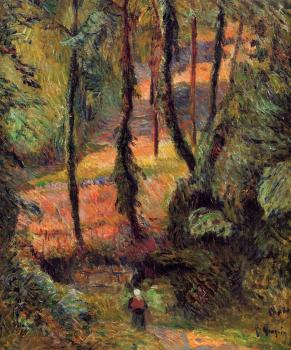 Paul Gauguin : Sunken Path, Wooded Rose