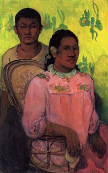 Paul Gauguin : Tahitian Woman and Boy