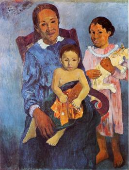 Paul Gauguin : Tahitian Woman and Two Children