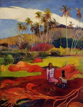 Paul Gauguin : Tahitian Women under the Palms