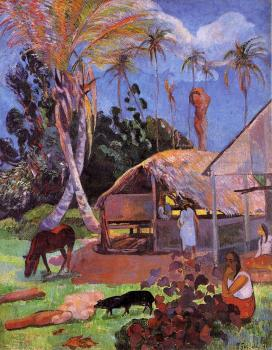 Paul Gauguin : The Black Pigs