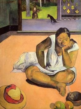 Paul Gauguin : The Brooding Woman