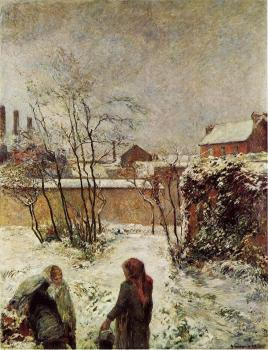 Paul Gauguin : The Garden in Winter, rue Carcel