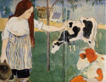 Paul Gauguin : The Milkmaid