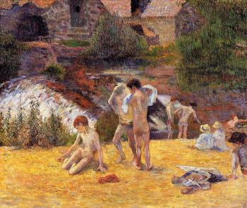 Paul Gauguin : The Moulin du Boid d'Amour Bathing Place