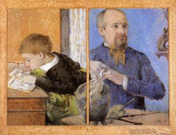 Paul Gauguin : The Sculptor Aube and His son