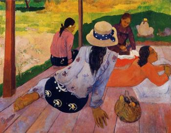 Paul Gauguin : The Siesta