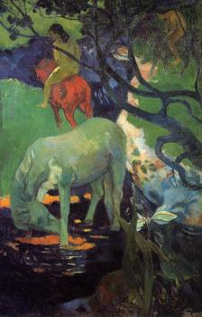 Paul Gauguin : The White Horse II