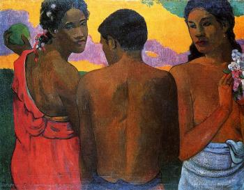 Paul Gauguin : Three Tahitians