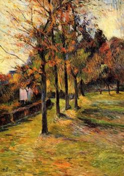 Paul Gauguin : Tree Lined Road, Rouen