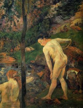 Paul Gauguin : Two Girls Bathing