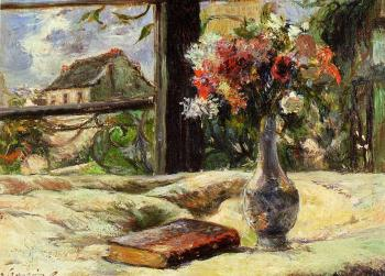 Paul Gauguin : Vase of Flowers and Window