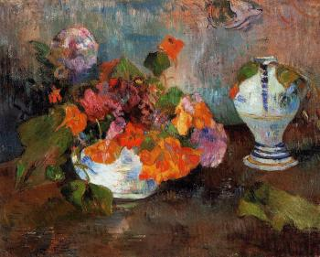 Paul Gauguin : Vase of Nasturtiums