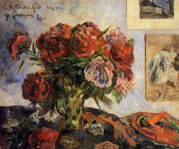 Paul Gauguin : Vase of Peonies