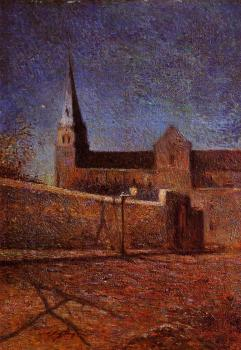 Paul Gauguin : Vaugirard Church by Night