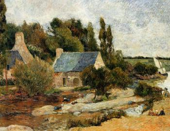 Paul Gauguin : Washerwoman at Simonou Mill, Pont-Aven