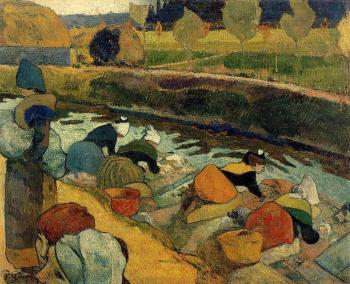Paul Gauguin : Washerwomen at the Roubine du Roi, Arles