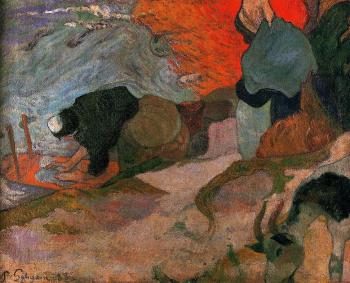 Paul Gauguin : Washerwomen