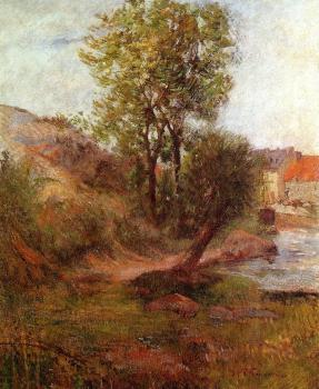 Paul Gauguin : Willow by the Aven