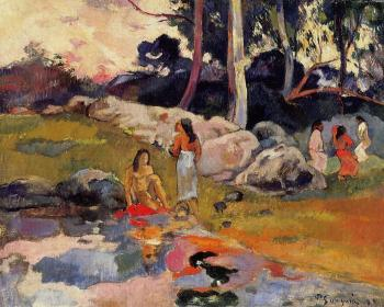 Paul Gauguin : Woman on the Banks of the River
