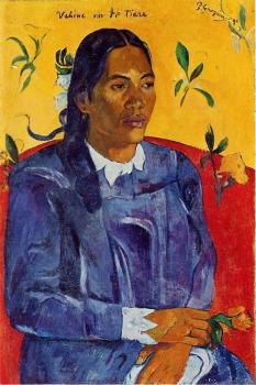 Paul Gauguin : Woman with a Flower II