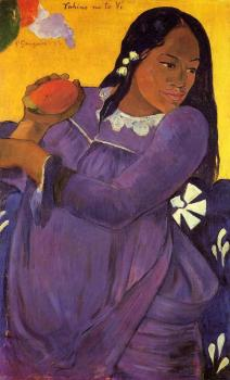 Paul Gauguin : Woman with a Mango