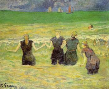 Paul Gauguin : Women Bathing, Dieppe