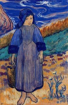 Paul Gauguin : Young Breton by the Sea