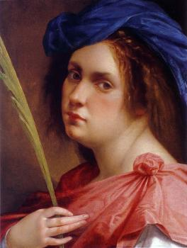 Artemisia Gentileschi : Self-Portrait as a Female Martyr