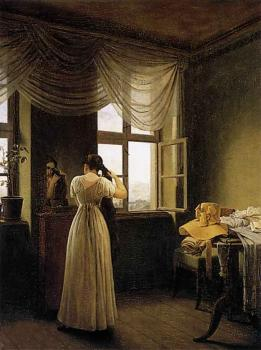 Georg Friedrich Kersting : At The Mirror
