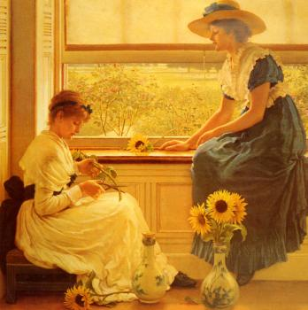 Leslie George Dunlop : Sun And Moon Flowers