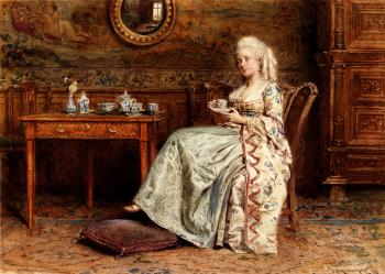 George Goodwin Kilburne : Taking Tea