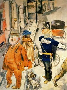 George Grosz : Strasse in Berlin