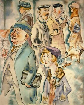 George Grosz : Strasse in Berlin II