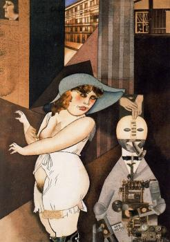 George Grosz : Daum marries her pedantic automaton George