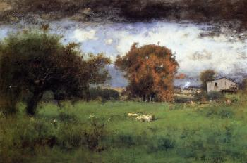 George Inness : Early Autumn Montclair II