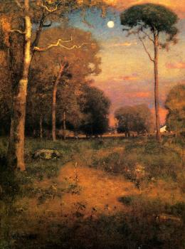 George Inness : Early Moonrise Florida aka Early Morning Florida