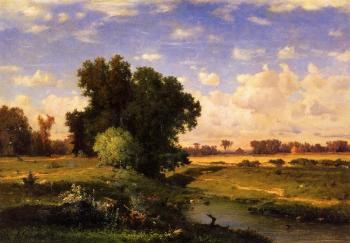 George Inness : Hackensack Meadows Sunset