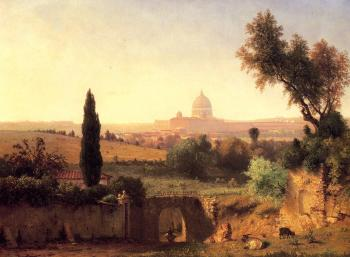 George Inness : St Peter's Rome