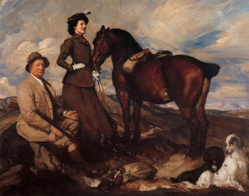 George Lambert : Miss Alison Preston and John Proctor on Mearbeck Moor