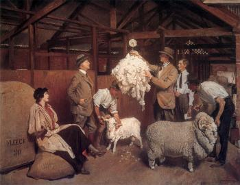 George Lambert : Weighing the Fleece