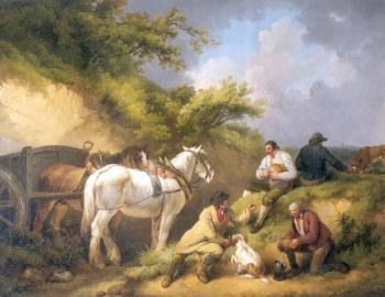 George Morland : The Labourers Luncheon