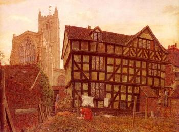 George Price Boyce : Church And Ancient Uninhabited House At Ludlow