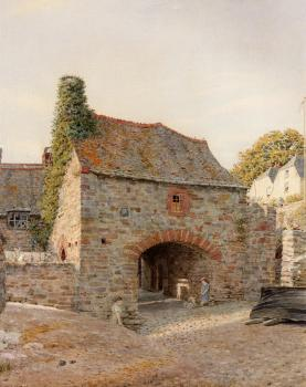 George Price Boyce : Old Buildings At Kingswear South Devon