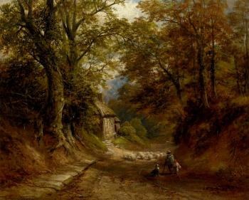 George Turner : The Old Cottage Littleover Lane