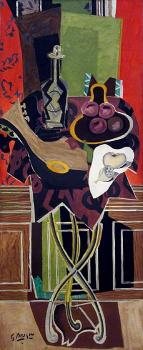 Georges Braque : The Red Pedestal Table