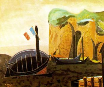 Georges Braque : The boat of the flag