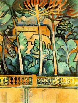 Georges Braque : Terrace of Hotel Mistral at Estaque
