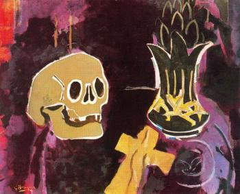Georges Braque : Still life with skull