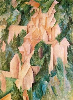 Georges Braque : The Castle in La Roche Guyon